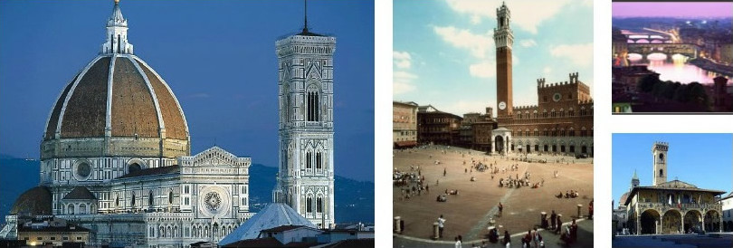 Firenze, Siena e altre città